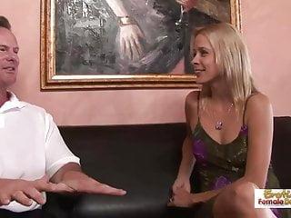 Leggy blonde Payton Leighs MILF creampie fuck