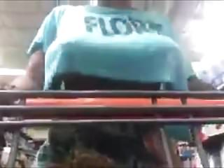 Black Tits Flashing Shopping
