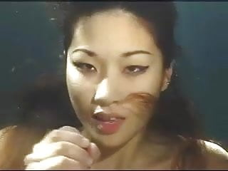 Asian Funny Tits video: Asian underwater blowjob