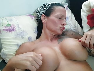 Fingering Big Tits Wife video: Wife masturbating in holiday