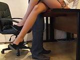 secretary mini skirt