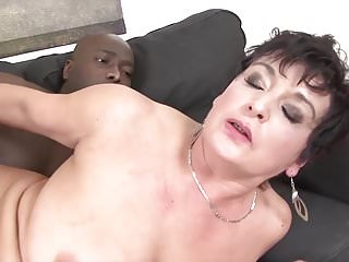 .Granny Hardcore fucked by black man in her tight ass sex.