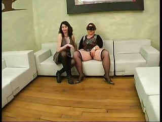 Anal Matures video: Ophelie bring a BBW for a groupsex