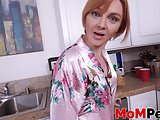 MILF stepmom giving a hot blowjob in POV style
