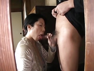 Matures Asian Japanese video: Japanese Mature BJ CIM 18