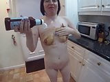 Wife gets Messy with Brown Sauce