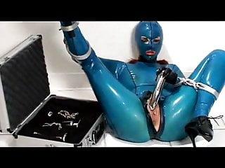 Latex Bondage Bound video: bound and mastrubate in latex