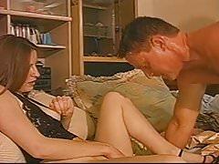 Manželka se dívá na HerHusband Fck a Man