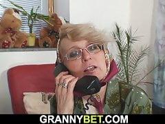 Lonely Elder Platinum-blonde Gets Doggy-fucked By Stranger