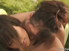 Nuru Girlfriends Play Outdoors