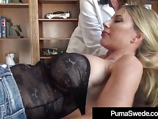 Blondes Lesbians Swedish video: Nymphomaniac Puma Swede Tricked By Nympho Dr Arielle Ferrera