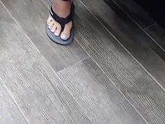 Candid Asian feet