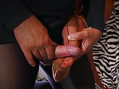 Cumshot auf RHT Stockings
