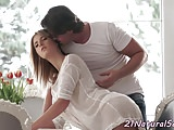 Euro model fucked by her bf until she cums