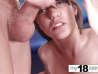 Russian Teen Blowjob video: MY18TEENS - Tiny Teen Blowjob Big Dick and Hard Fuck - Cum