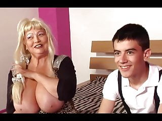 Bbw Grannies Big Tits video: Granny With Huge Breast Fuck 18y Boy