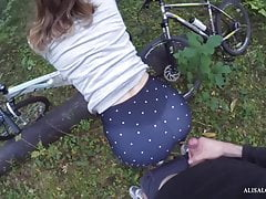 Blowjob For My BF In Bike Park!