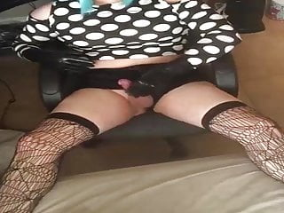 Amateur Shemale Masturbation Shemale Lingerie Shemale video: Rose milking her gurl cock with latex gloves.