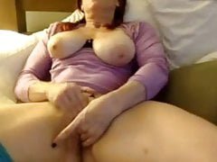 Shy Milf rubs and fingers pussy till cum
