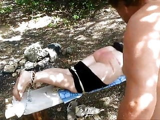 Foot Fetish Whipping video: spanked barefeet
