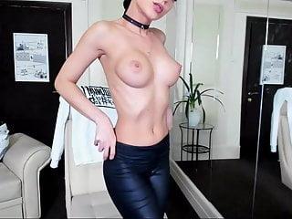 Brunette Big Tits Big Ass video: Ultra Hot Perfect Brunette - Ass - Boobs - Leggings
