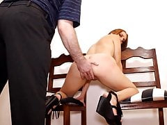 Belt spanked and creampied