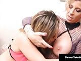 Plump Rumps Carmen Valentina & Sara Jay 69 Dildo Bang & More