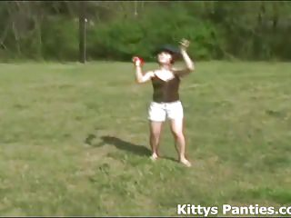 Teens Amateur video: Lets go play a game of catch