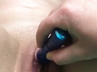 Fingering Tits video: Teen lesbians play time with vibtator