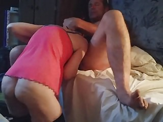 Homemade Cum In Mouth Cum Swallowing video: An old friend gets lucky, my gf takes his huge load.
