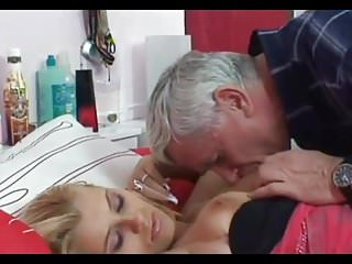 Blondes Oldyoung Big Natural Tits video: Old man and blonde