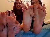 Goddess Xena and Brandi Goth feet.