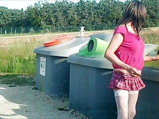 Amateur Shemale Lingerie Shemale Outdoor Shemale video: aurelia taking trash out2
