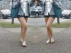 Jiggly Thigh Frontal Candid