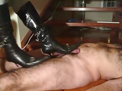 Stiletto Boots coq frottant