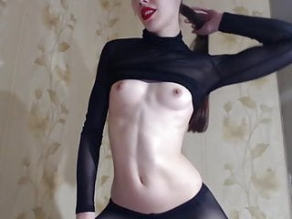 Red Lips and Black Pantyhose