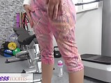 Fitness Rooms Petite sporty British Afghan gets a rough fuck