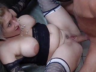 Lingerie Blonde Big Tits video: Busty Milf wants gangbang