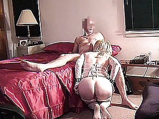 Bdsm Blonde Blowjob video: HANDCUFFED SEX MACHINE