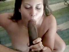 Tlustý ženatý Latina Slut Railed černý Dick a Facial