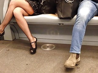 Public Nudity Stockings Lingerie video: my wife in a train...