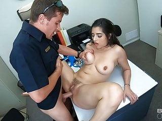 Blowjob Pornstar Big Tits video: Screw the Cops - Cuffed Latina Fucked By Two Cops