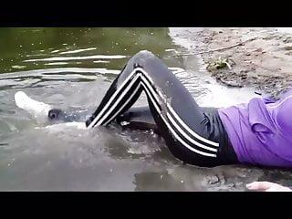 adidas leggings wet mud