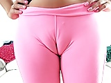 AMAZING CAMELTOE Pussy TEEN in Tight LYCRA SPANDEX Pants