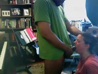 Interracial Blowjob video: Choking and Cumming in her mouth