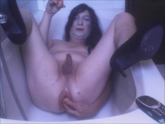 Toilet Bathroom Anal Insertion Phone in the Ass