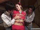 Nasty mature housewife, Azusa Uemura got fucked hard and cre