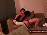 African chick loves riding big dick