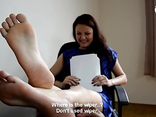 Czech Foot Fetish video: Hot office foot worship - CzechSoles.com teaser