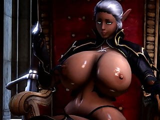 Hd Videos video: TES Elf showing off her Big Tits 3D Hentai (Ecchi)
